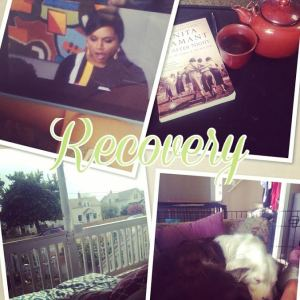 Yep. Mindy Project, My pup, tea, and a good book.
