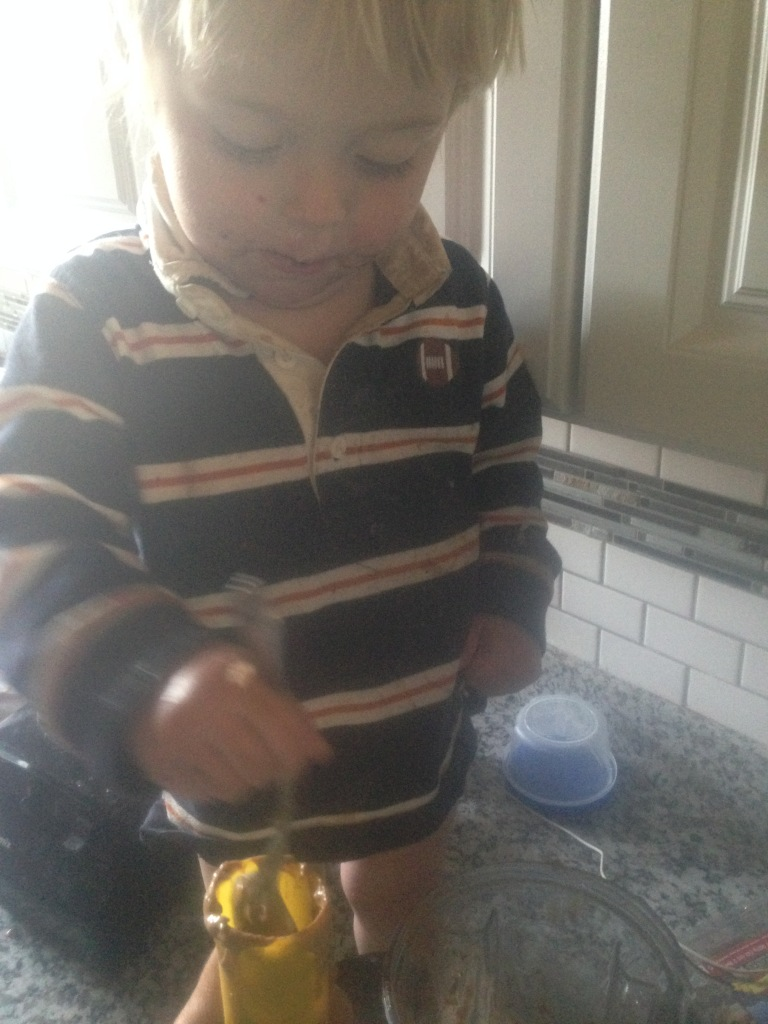 Love that he loves to help me in the kitchen.