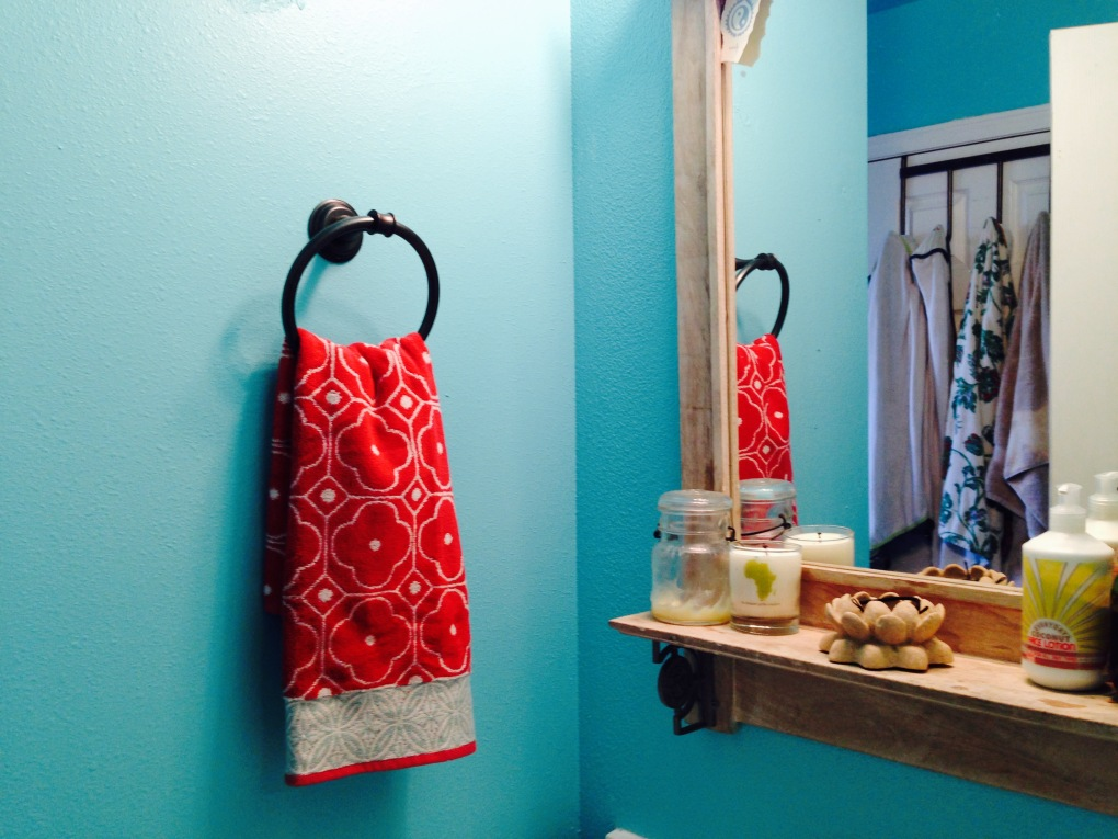 Color and new bathroom fixtures can totally transform a bathroom!